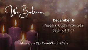 Peace in God's Promises